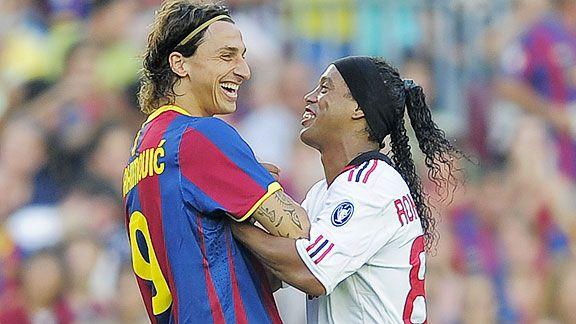 Zlatan et Ronaldinho (Ronnie), deux stars du PSG