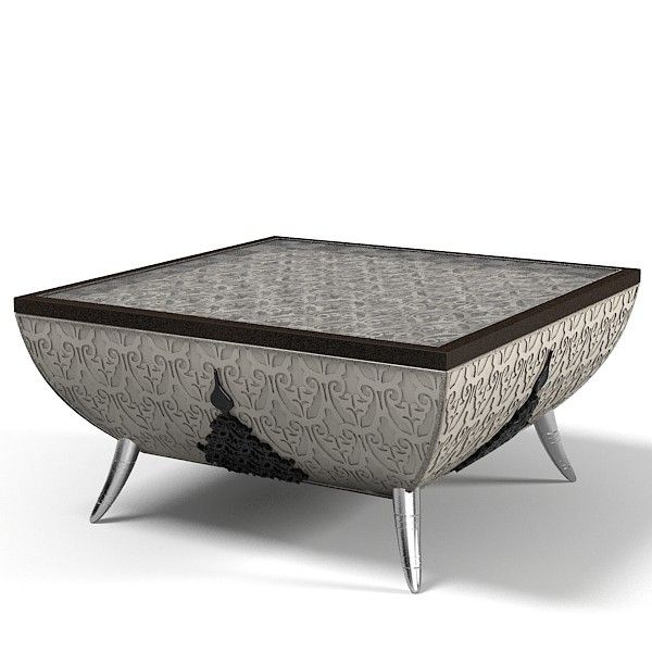 Elledue AT 602 Saraya Art Deco Oriental Decorative Glass Coffee Side Table  Model Available On Turbo Squid, The Worldu0027s Leading Provider Of Digital  Models ...