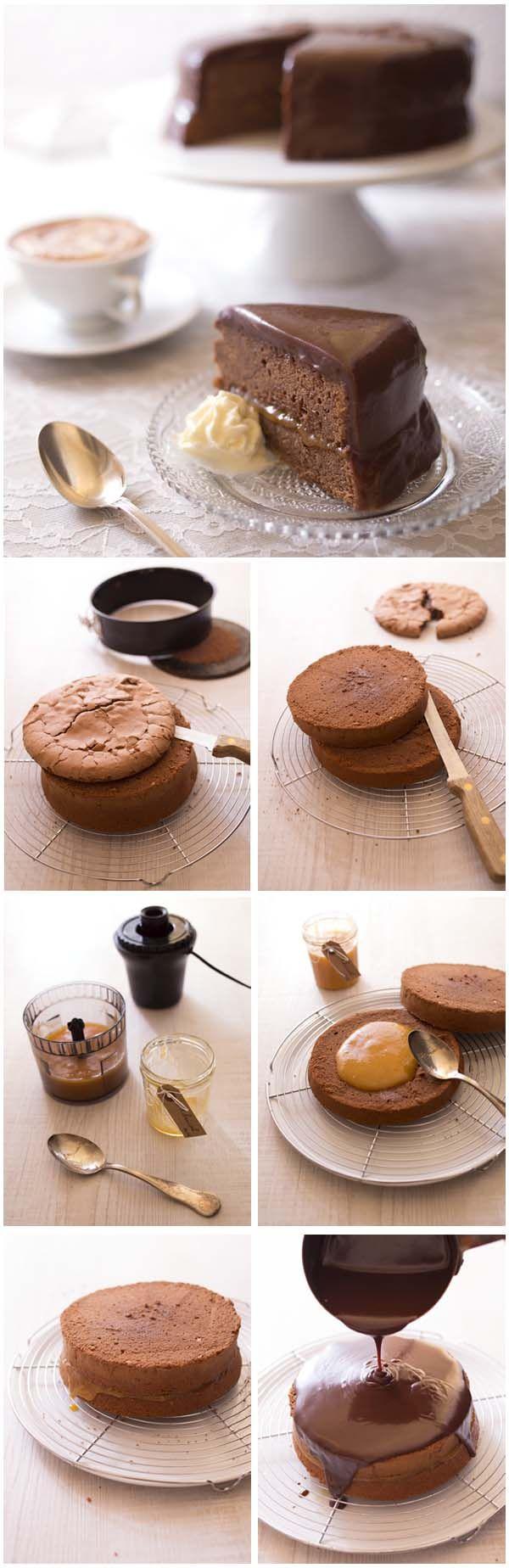Sacher torte Gâteau chocolat abricot de Vienne (DIY photo pas à pas)