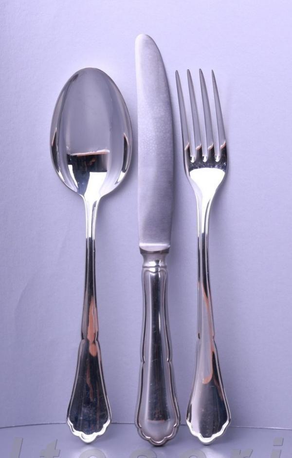 Dessertbesteck für 6 Personen 18tlg. BSF 800er Silber Chippendale | Möbel & Wohnen, Kochen & Genießen, Besteck | eBay!