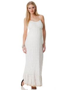 sleeveless smocked back maternity maxi dress