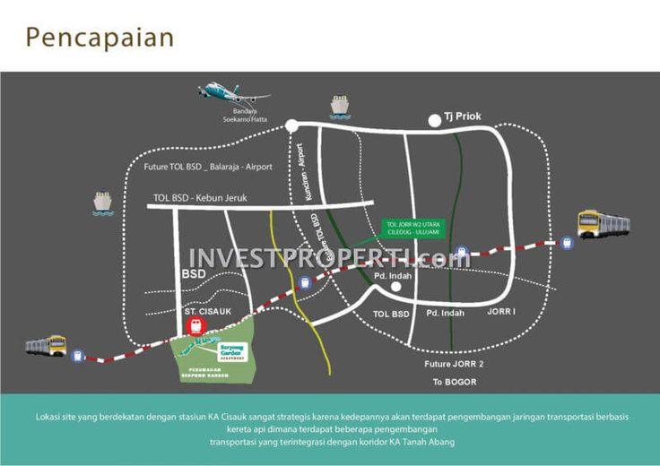 Peta Lokasi Apartemen Serpong Garden Cisauk