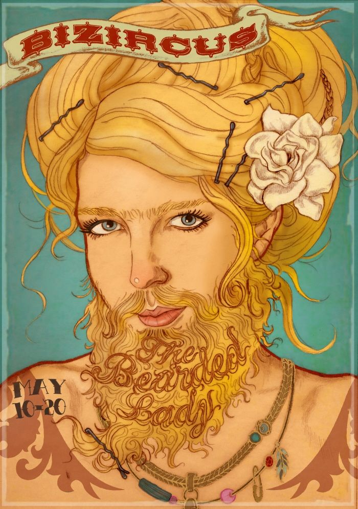 Bearded Lady: Vintage Freak, Freakshow, Circus Carnivals Freak, Beards Lady Illustrations, Sideshow Posters, Google Search, Freak Show, Circus Posters, Carnivals Circus