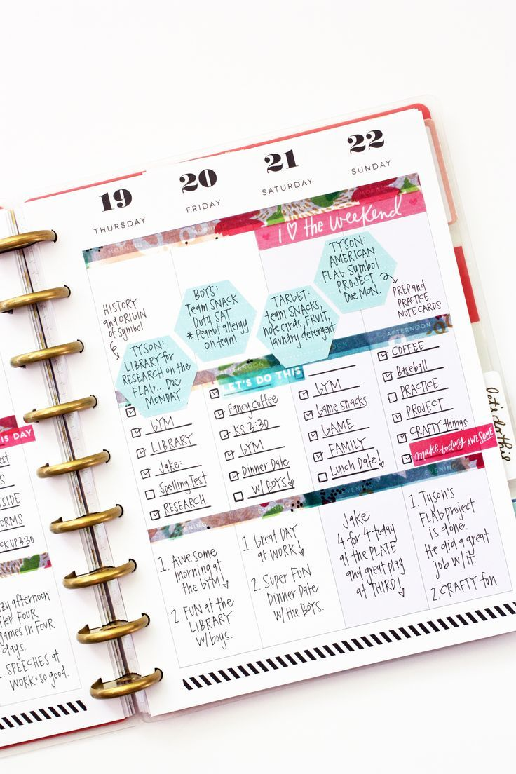 Pretty layout | Happy Planner weekly spread | Mambi