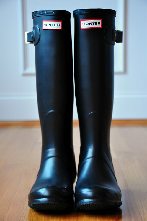 They don't have to be hunter because I know they're expensive but I would love some cute black rain boots