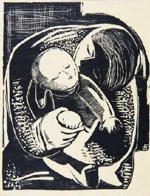 Fayga Ostrower, Maternity, 1950