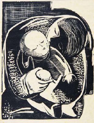 Fayga Ostrower, Maternity, 1950