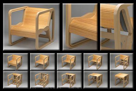 chair tableTransformers Furniture, Rolls Furniture, Clever Design, Elastic Living, Convertible Furniture, Chairs Tables, 10 Transformers, Convertible Collap, Multifunctional Furniture