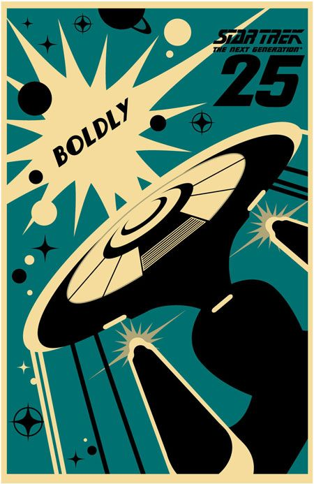 *ENTERPRISE* Exclusive 25th Anniversary TNG prints. Boldly going where no print has gone before!! Want them!!