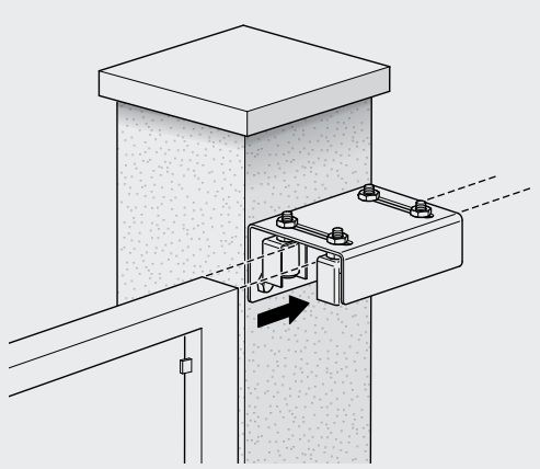 Sliding gate upper guide bracket - GateMotors.co.uk