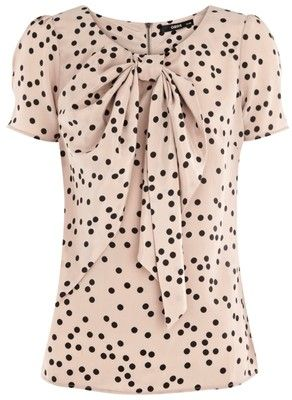 Polka Dot Top - could be cute for the office with a black pencil skirt