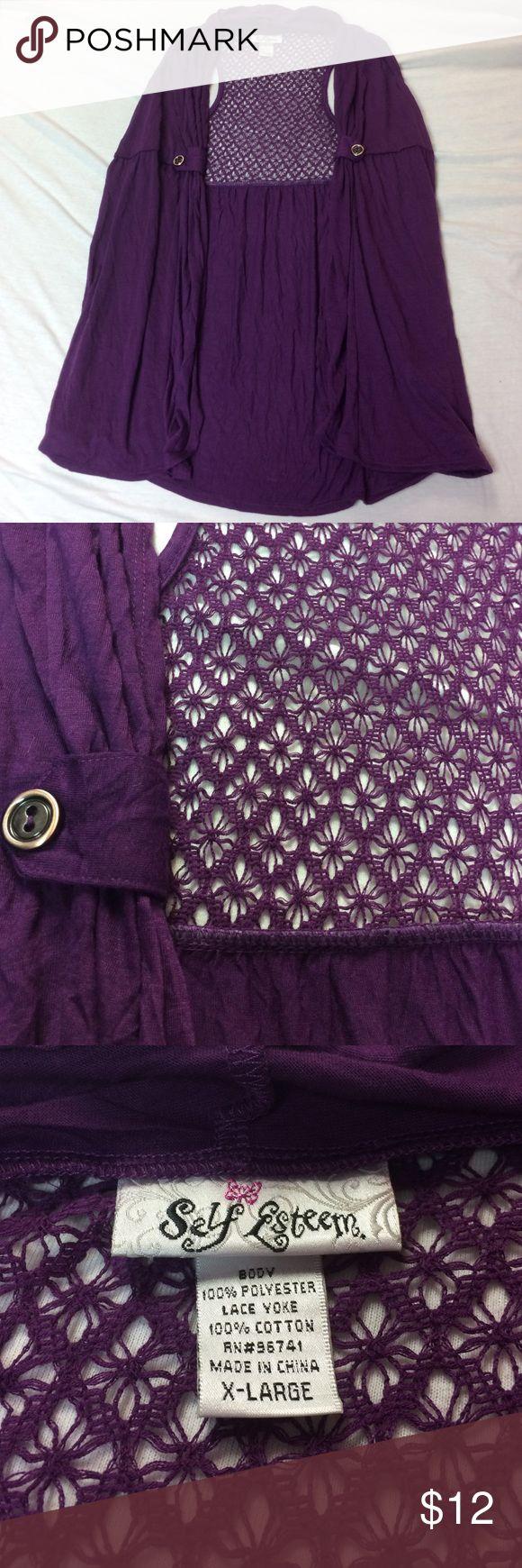 Purple Vest Pretty plum purple flowy vest. Perfect condition, never worn. Self Esteem Jackets & Coats Vests