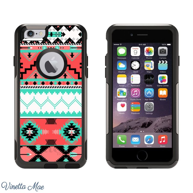 iPhone Otterbox Case for iPhone 5, 5s, 6, 6 Plus Teal Coral Aztec Tribal Women Girls Cute Phone Case Otter Box Life Proof Hard Cover 1123 by VinettaMae on Etsy https://www.etsy.com/listing/208841666/iphone-otterbox-case-for-iphone-5-5s-6-6