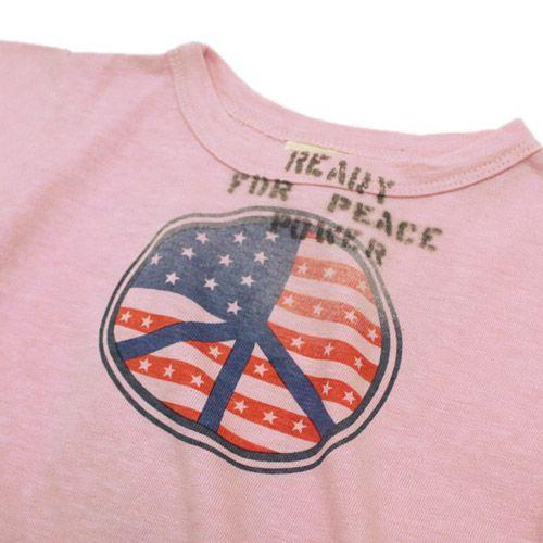 DENIM DUNGAREE(デニム&ダンガリー):テンジク PEACE Tシャツ 6Pピンク の通販【ブランド子供服のミリバール】