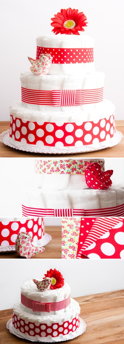 Lola's Diaper cakes - Tarta de pañales Lola / tartas de pañales - Nueves Lunas y un Solete