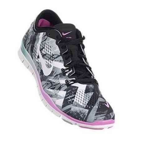 02471c38e90d9 Nike Free 5.0 TR Fit 4 Print Womens sz Running Shoes Black Grey Pink 629832  001 | Shoes | Black running shoes, Nike, Nike women