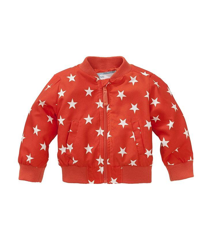 HEMA baby jongensjas – oranje jas met sterren