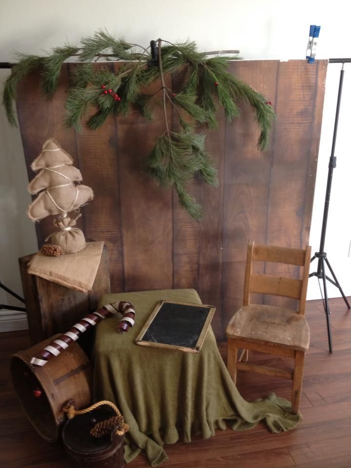 Christmas Mini Session-- I like this and could use my wood floor, white or brown
