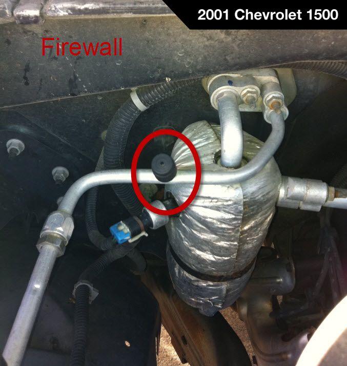 2001 Chevrolet Silverado 1500 Low Side Port For A C