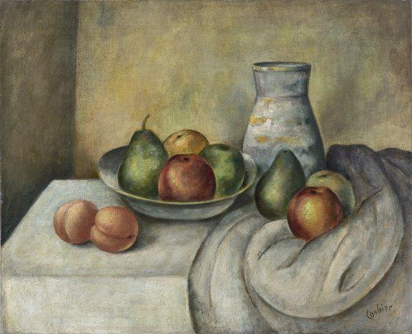 Otakar Kubín - Zátiší s džbánem a ovocem