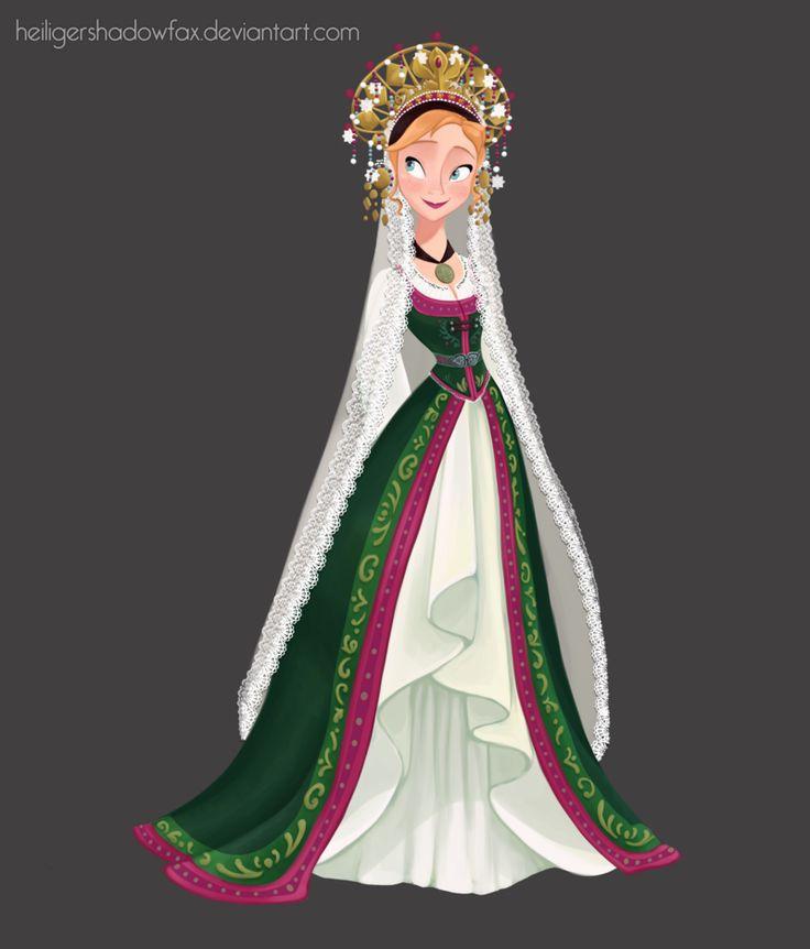 Norwegian Bride, Anna's wedding dress by HeiligerShadowfax.deviantart.com on @deviantART