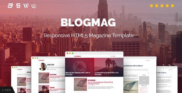 BlogMag - Responsive HTML5 Magazine Template