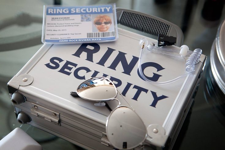 "This is our homemade ""Ring Security Guard"" accessories kit. :)"