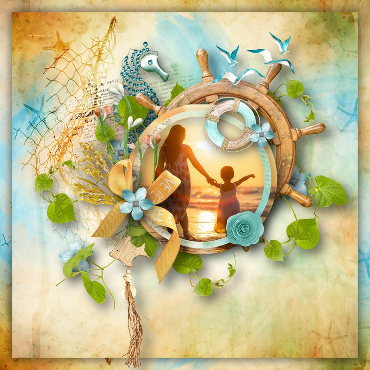 """Seaside Treasures"" by BooLand Designs, https://www.digitalscrapbookingstudio.com/digital-art/kits/seaside-treasures-page-kit/, photo Pixabay"