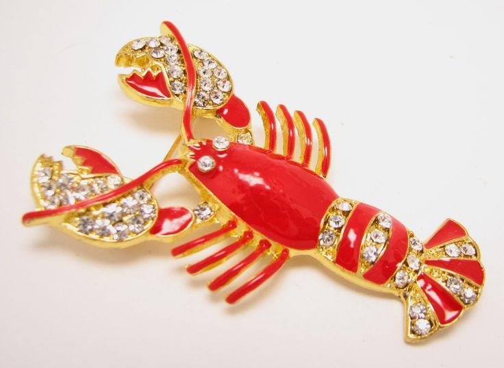 Lobster Brooch, $22 in my Etsy shop