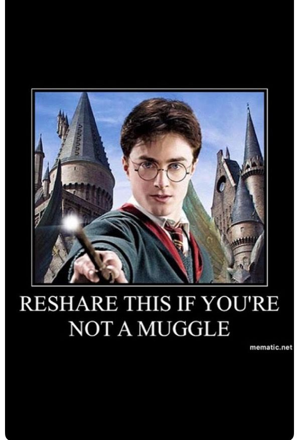 Reshare if ur not a muggle lol