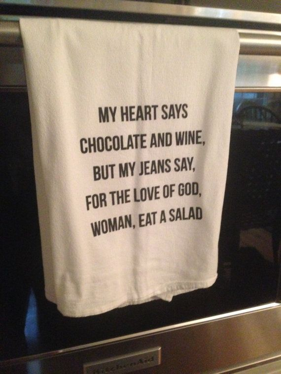 Flour Sack Tea Towel – CHOCOLATE AND WINE: Kitchen Towel