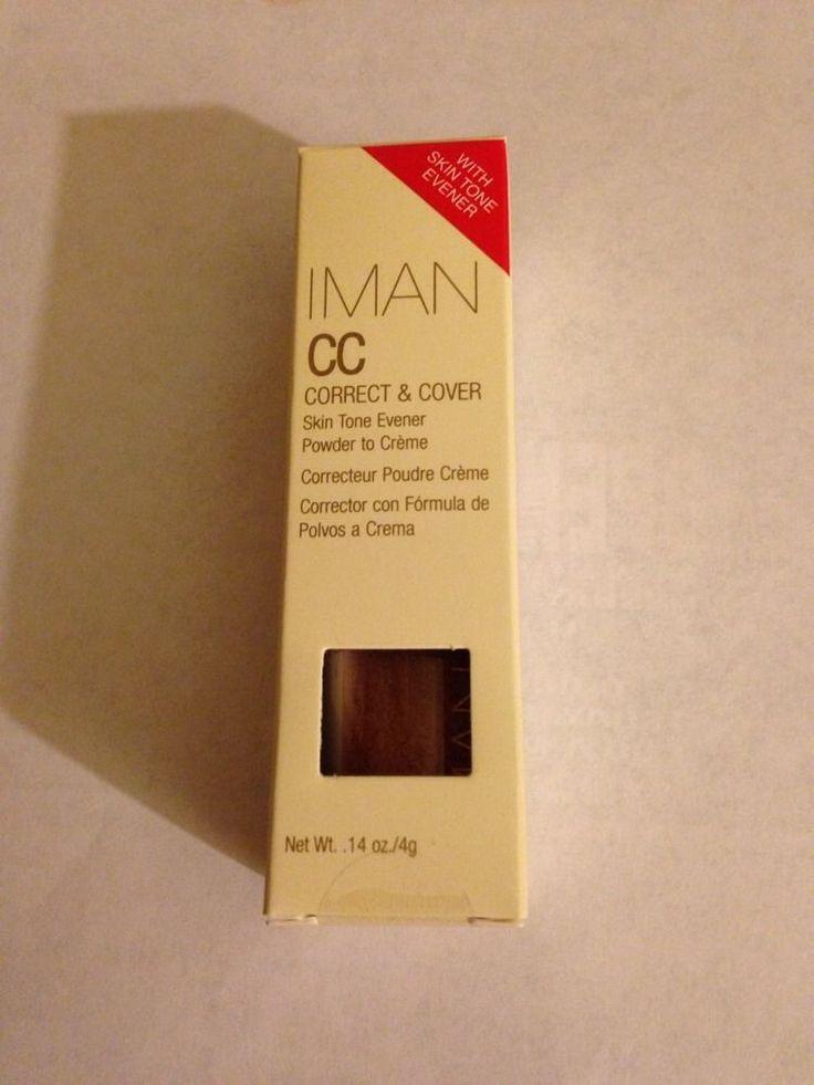 IMAN CC Correct Cover Skin Tone Evener Powder to Creme Earth Medium | eBay