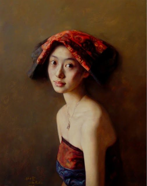 Realism Oil Painting Works by Zhao Kailin   China 1961
