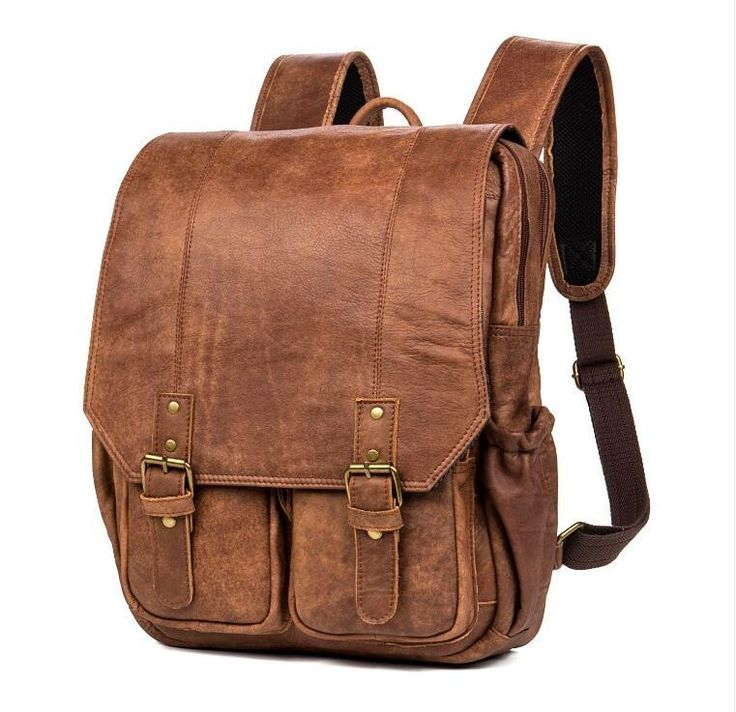 "ROCKCOW Handmade Genuine Leather Travel Backpack, Shoulder Backpack, School Backpack B078 Model Number: B078 Dimensions:11.8""L x 5.1""W x 15.7""H / 30cm(L) x 13c"