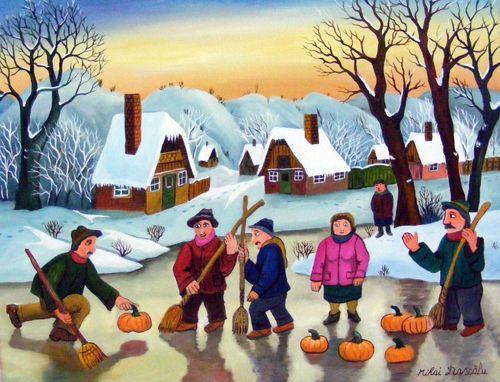 Curling !! - price 800 usd. 50x40 cm