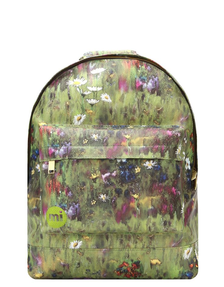 The Mi-Pac Backpack in Meadowbank Green is the perfect travel fashion accessory.