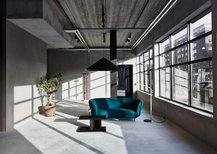 Massproductions and Wästberg open Stockholm showroom inside a Neomodernist building in Stockholm's Hammarby quay