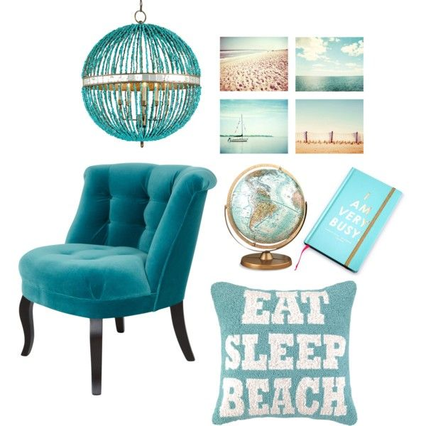 turquoise decoration by vividpretty on Polyvore featuring interior, interiors, interior design, home, home decor, interior decorating, The Velvet Chair Company and Currey & Company