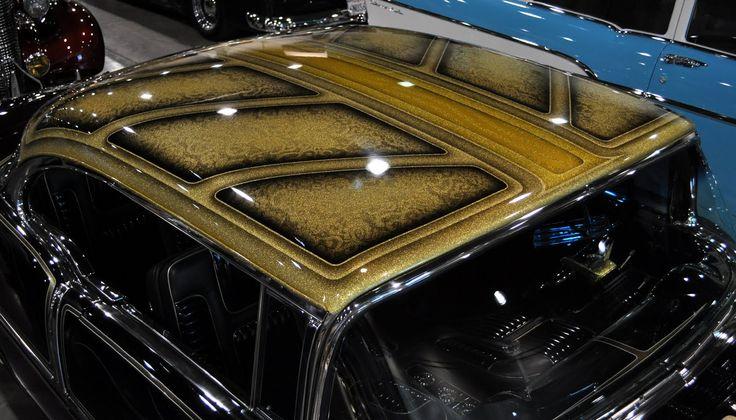 Gold Metal Flake Paint
