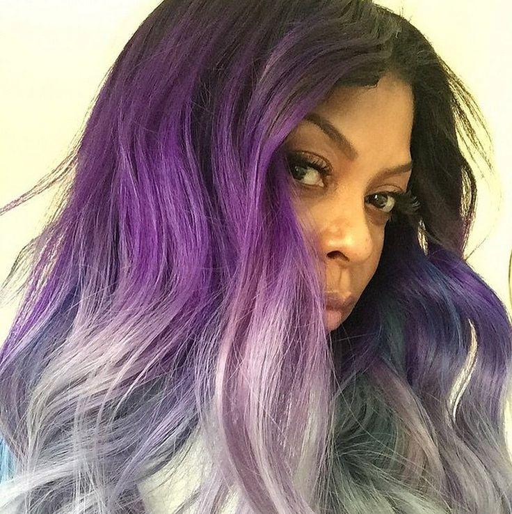 Taraji P Henson aka Cookie purple rage Colour with silver