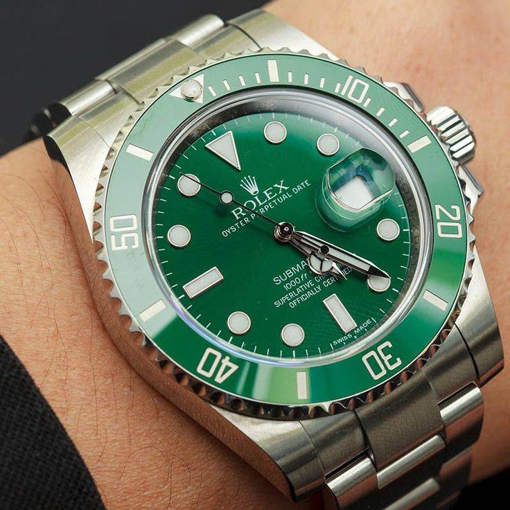 Rolex Submariner Green Anniversary Reference 116610 http://www.bobswatches.com/rolex-submariner-green-anniversary-116610.html