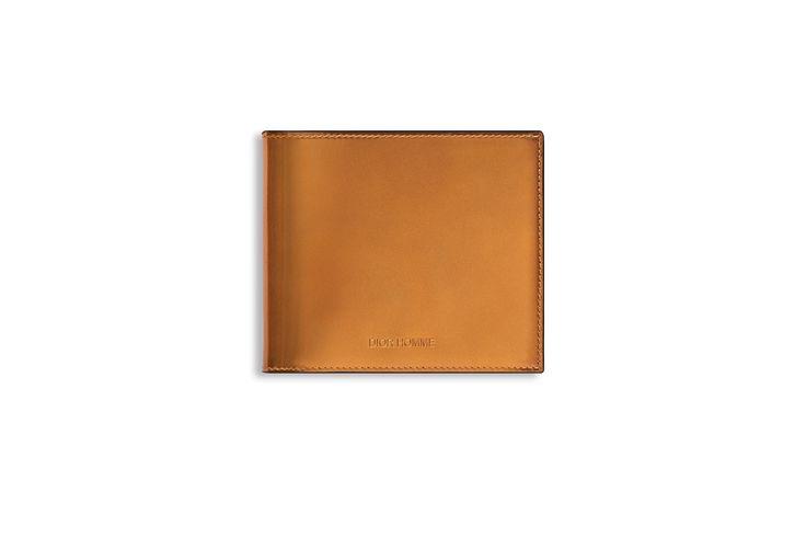ゴールド メタリックレザー ウォレット - Dior