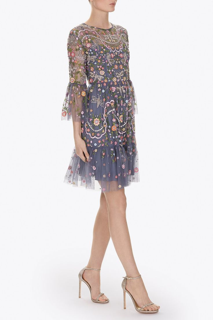 The dress images - The Dragonfly Garden Artwork Is Inspired By Formal English Gardens With Beautifully Soft Delicate