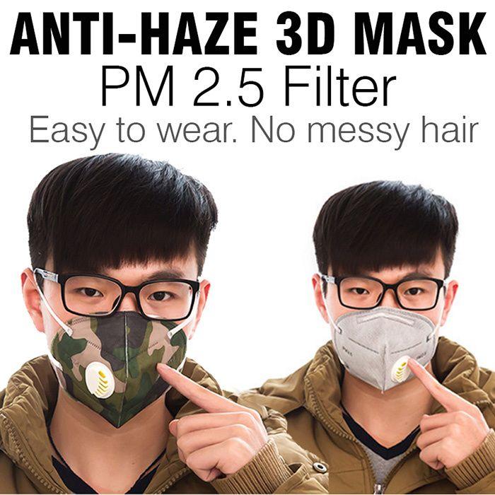 [S$3.99](▼80%)♥PM2.5 HAZE MASK♥ Anti Haze Anti Fog Dust Breathable Singapore Good Seller|Protective mask man Healthy golf driver filter sports car Bicycle woman men Singapore facial face camo