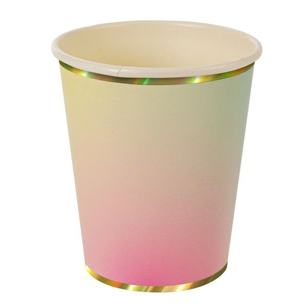 8 Pastel Ombre Paper Party Cups