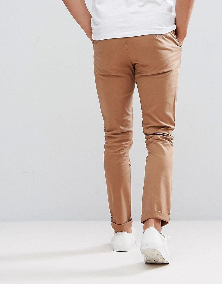 ASOS Skinny Chinos In Camel - Brown