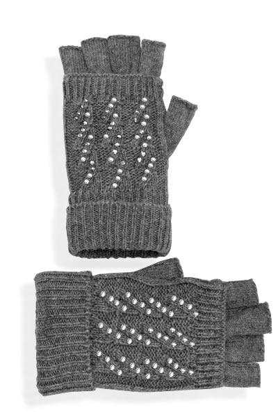 Abbigliamento da Donna  http://www.abbigliamentodadonna.it/guanti-trendy-senza-dita-p-708.html Cod.Art.000809 - Guanti trendy senza dita, realizzati in tessuto misto lana elasticizzato molto caldo e morbidissimo al tatto. Ideali per un look casual anche jeans, sono impreziositi da numerosi luccicanti brillantini stile swarovski, perfetti per il tuo stile underground.