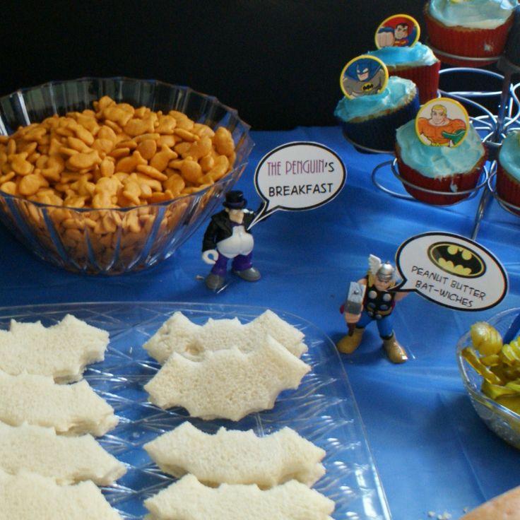 Seriously cute superhero party!