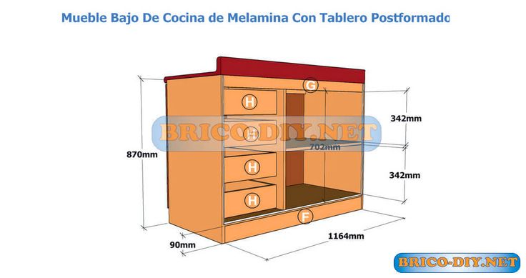 44 best images about muebles de cocina melamina madera mdf for Medidas estandar de cajones de cocina