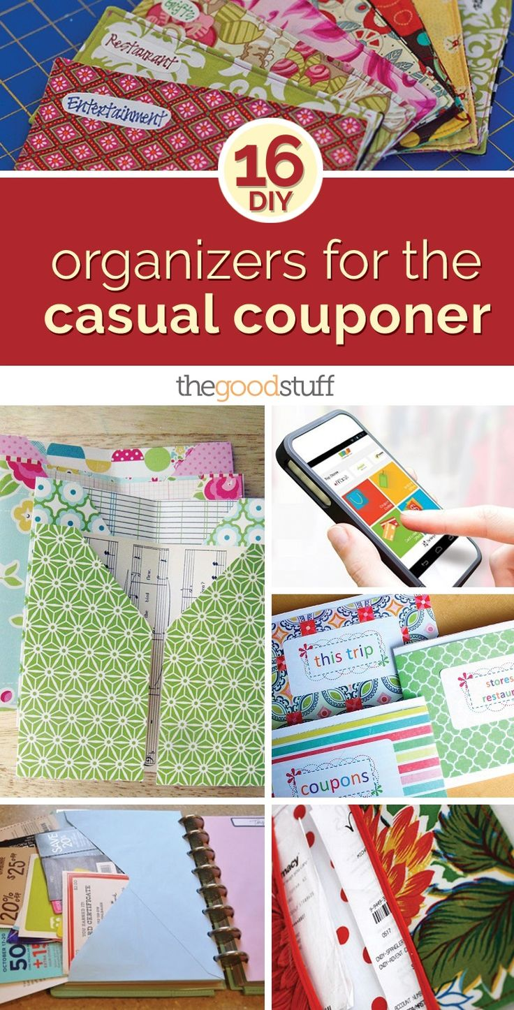 16 DIY Organizers for the Casual Couponer | thegoodstuff